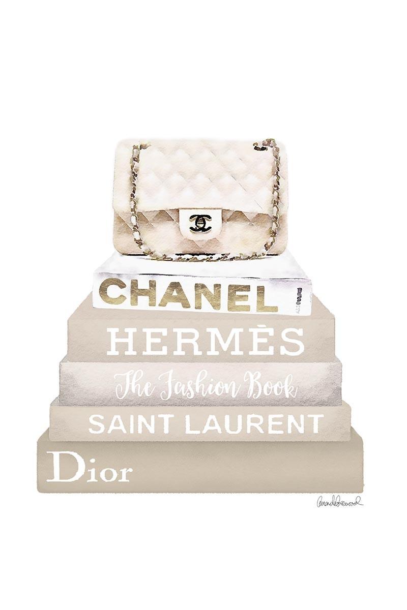 Cream Chanel & Books