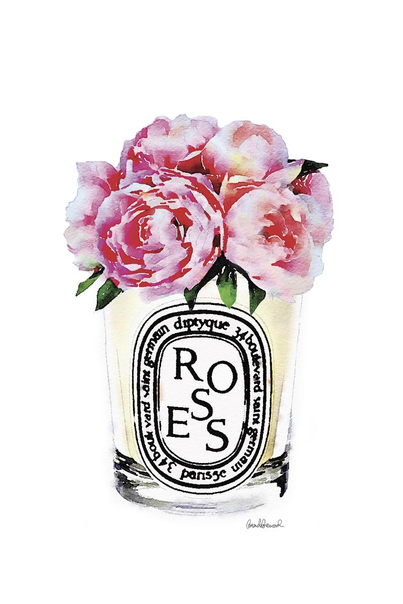 Candle & Pink Peonies