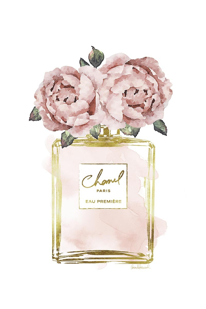 Peonies Gold Chanel