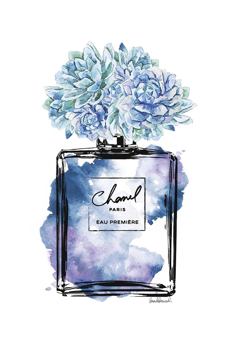 Blue Flowers Chanel