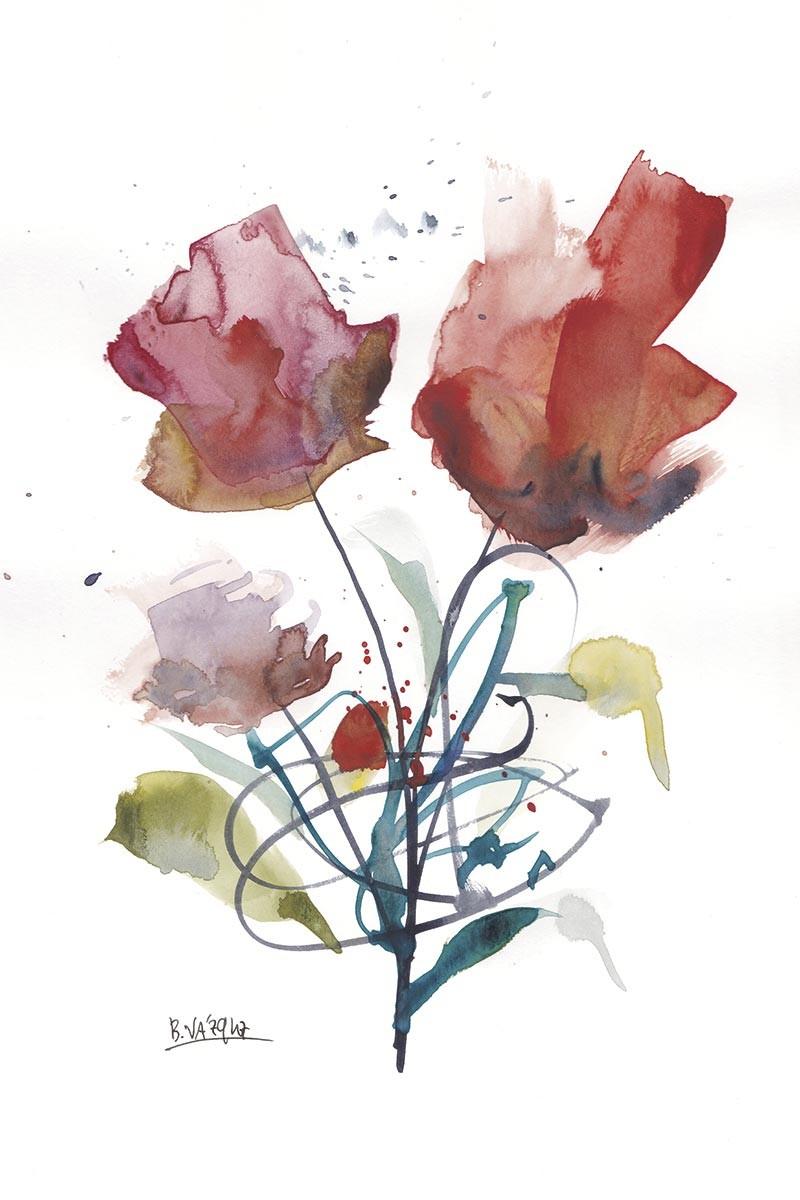 Flores Caligráficas I