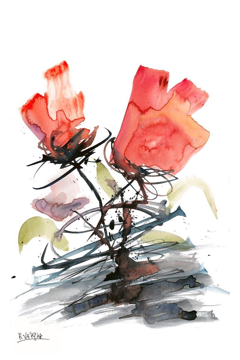 Flores Caligráficas II