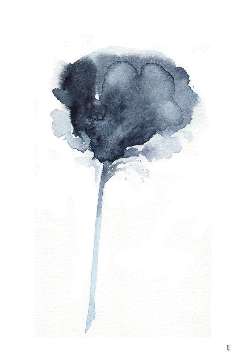 Flor Dark Blue I