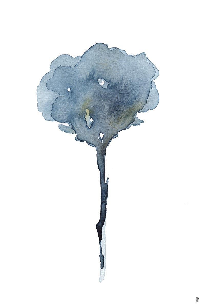 Flor Dark Blue II