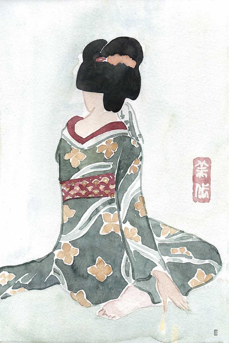 Geisha Sentada