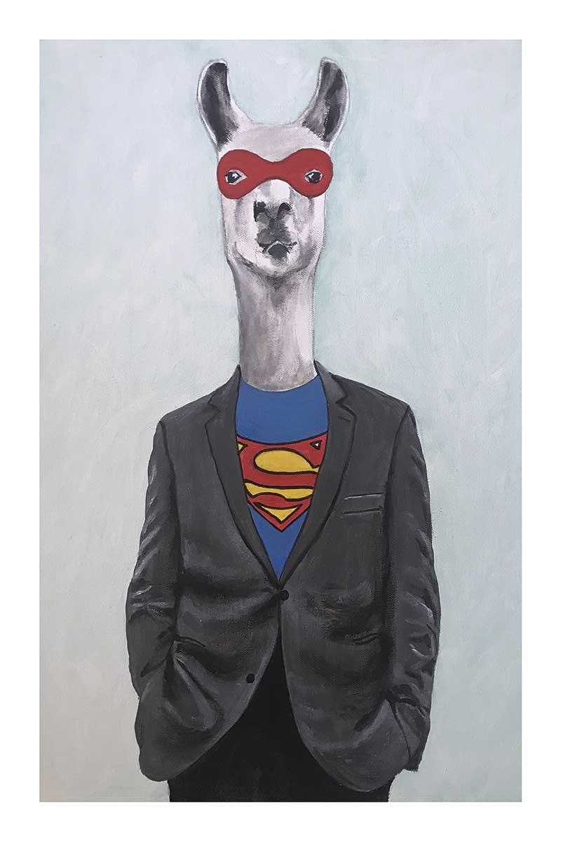 Llama Superman