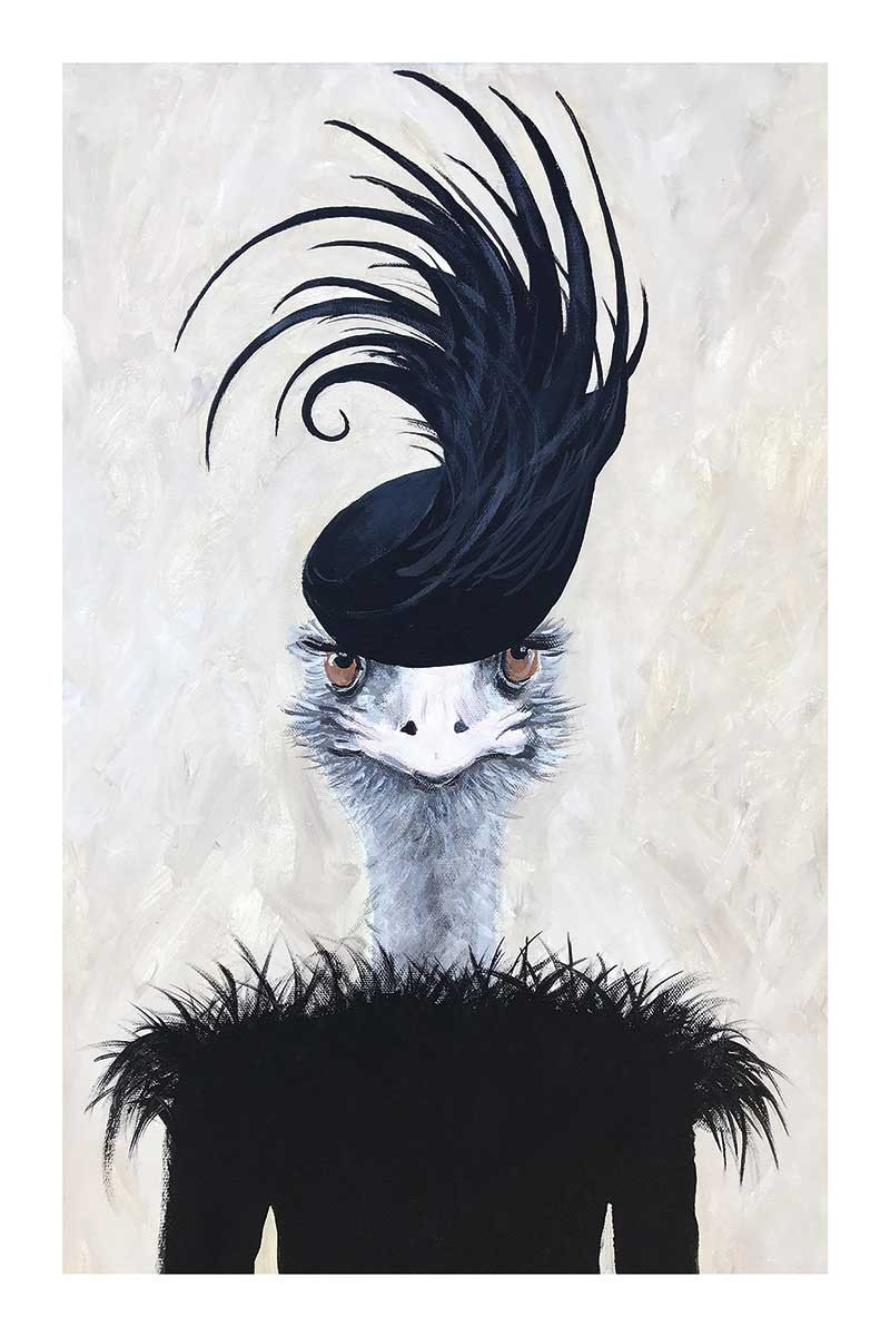 Ostrich with Feathers