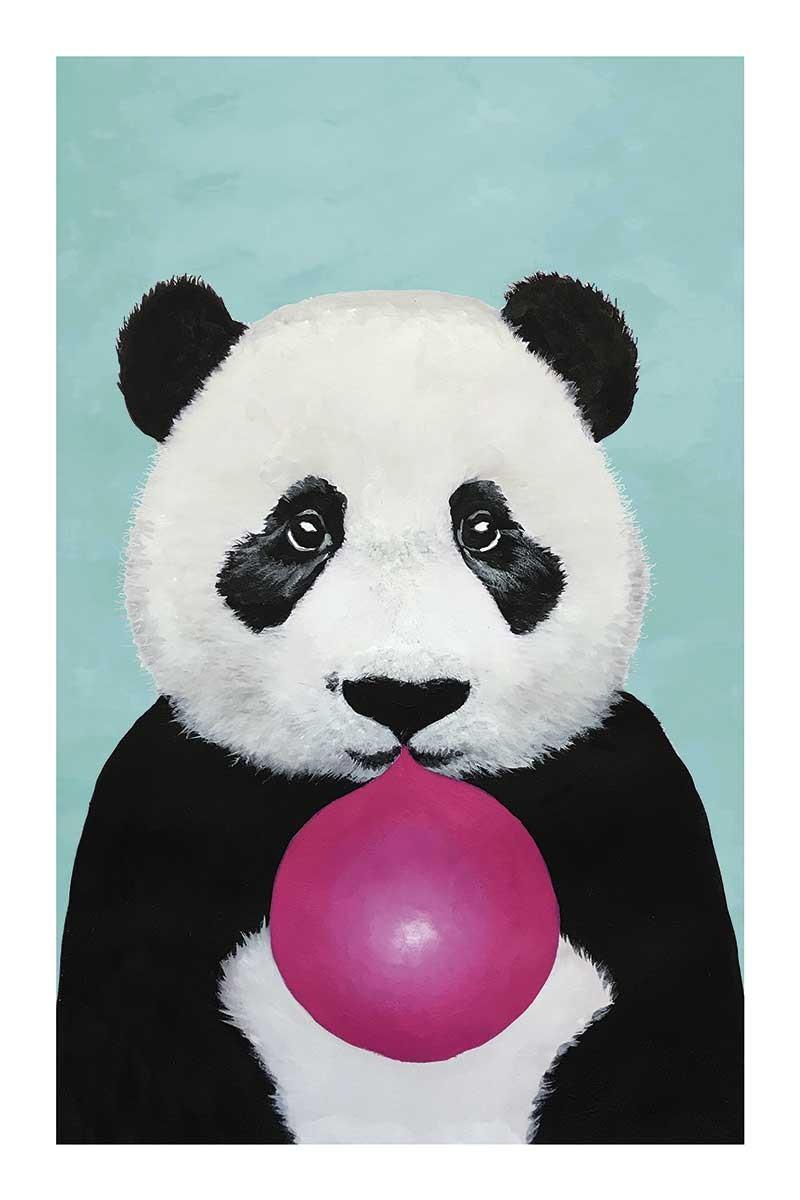 Panda with Bubblegum