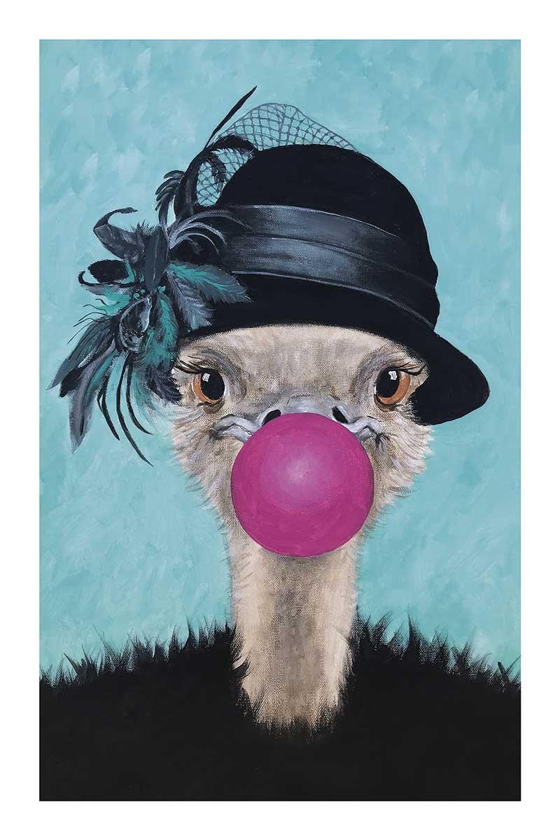 Ostrich with Bubblegum