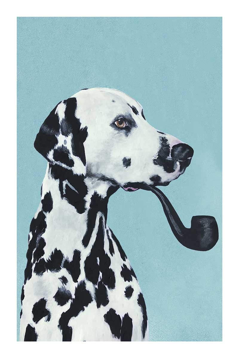 Dalmatian with Pipe Blue