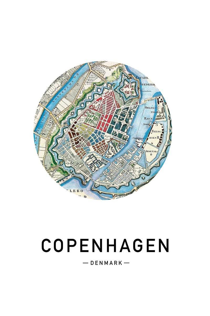 Mapa Copenhaguen