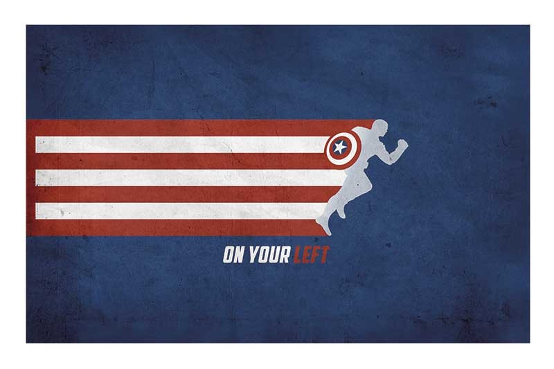 CAPTAIN AMERICA ON YOUR LEFT