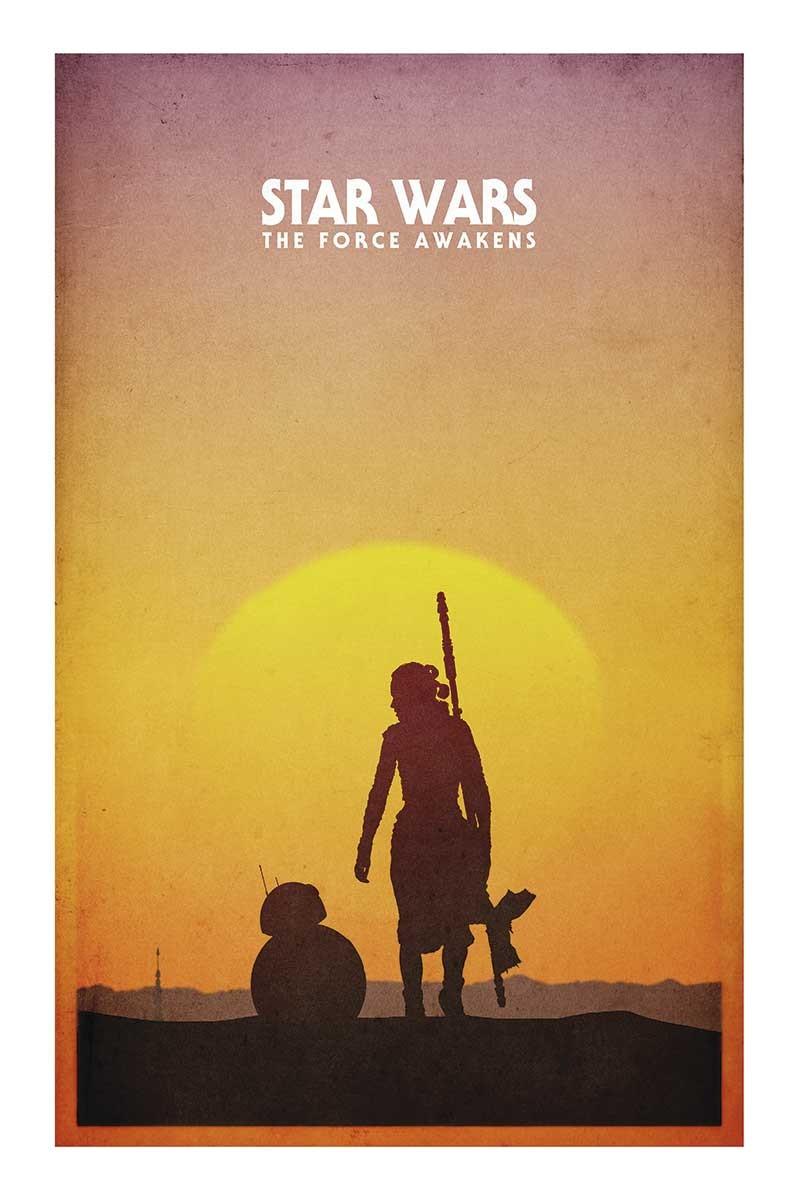 Star Wars Rey Sunset